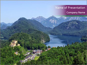 Castle in Bavarian Alps PowerPoint Template