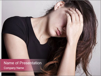 Beautiful sad woman PowerPoint Template - Slide 1