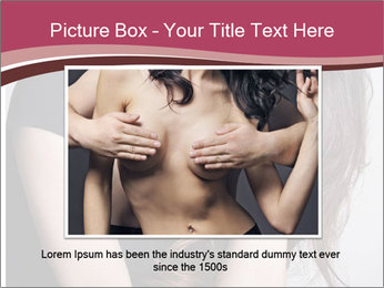 Beautiful sad woman PowerPoint Template - Slide 16