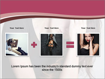 Beautiful sad woman PowerPoint Template - Slide 22