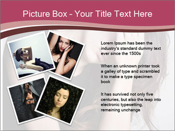 Beautiful sad woman PowerPoint Template - Slide 23