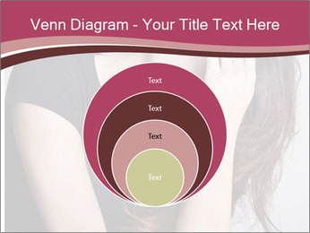 Beautiful sad woman PowerPoint Template - Slide 34