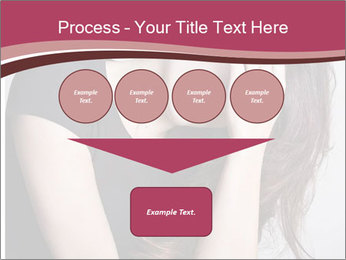 Beautiful sad woman PowerPoint Template - Slide 93