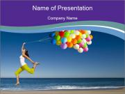 Beautiful and athletic girl PowerPoint Template