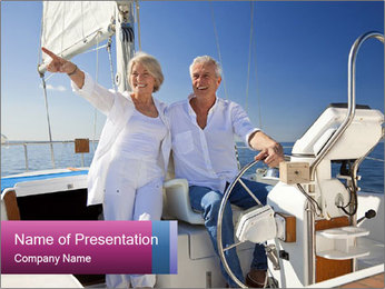 A happy senior couple PowerPoint Template