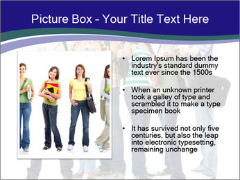Young smiling students PowerPoint Template - Slide 13
