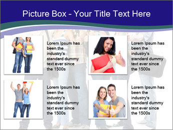 Young smiling students PowerPoint Template - Slide 14