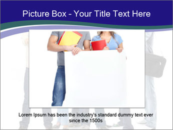 Young smiling students PowerPoint Template - Slide 15