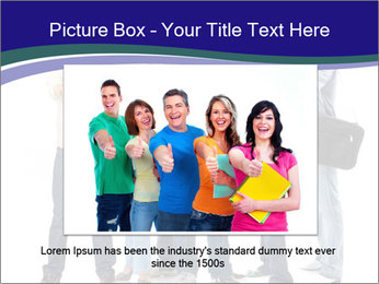 Young smiling students PowerPoint Template - Slide 16