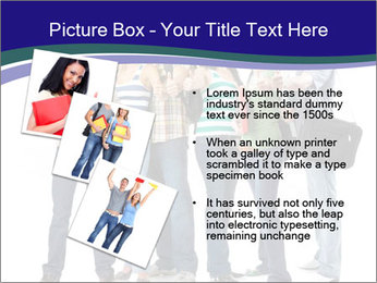 Young smiling students PowerPoint Template - Slide 17