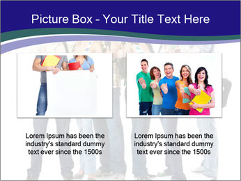 Young smiling students PowerPoint Template - Slide 18