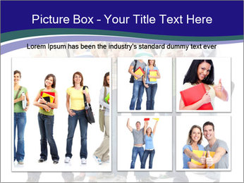 Young smiling students PowerPoint Template - Slide 19
