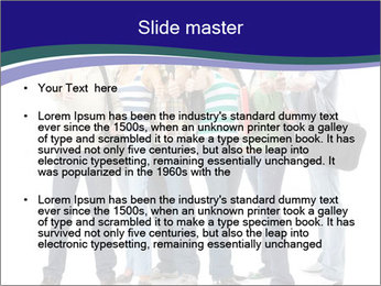 Young smiling students PowerPoint Template - Slide 2