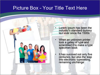 Young smiling students PowerPoint Template - Slide 20