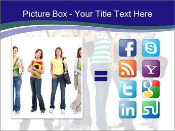 Young smiling students PowerPoint Template - Slide 21