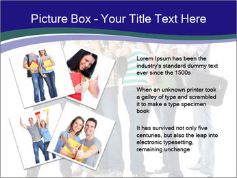 Young smiling students PowerPoint Template - Slide 23