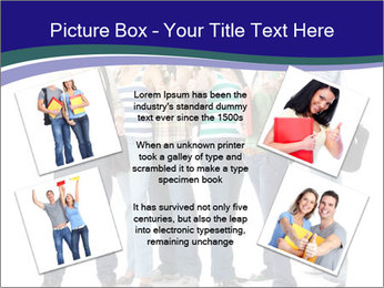 Young smiling students PowerPoint Template - Slide 24