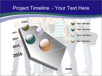 Young smiling students PowerPoint Template - Slide 26
