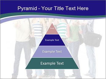 Young smiling students PowerPoint Template - Slide 30