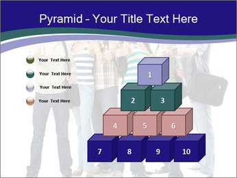Young smiling students PowerPoint Template - Slide 31