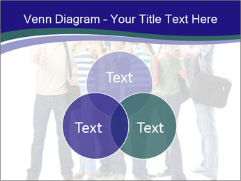 Young smiling students PowerPoint Template - Slide 33