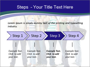 Young smiling students PowerPoint Template - Slide 4