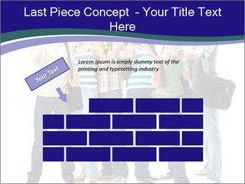 Young smiling students PowerPoint Template - Slide 46
