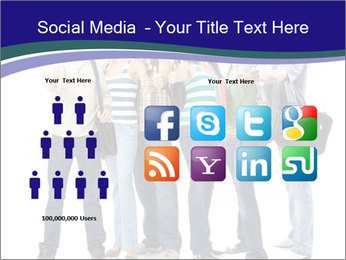 Young smiling students PowerPoint Template - Slide 5