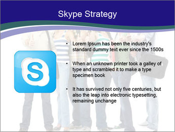 Young smiling students PowerPoint Template - Slide 8
