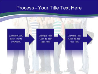 Young smiling students PowerPoint Template - Slide 88