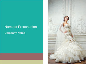 Bride PowerPoint Template - Slide 1