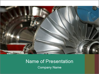 Large jet engine detail PowerPoint Templates - Slide 1