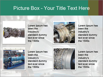 Large jet engine detail PowerPoint Templates - Slide 14