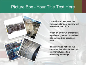 Large jet engine detail PowerPoint Templates - Slide 23