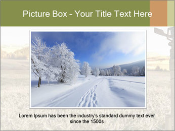Ice field in the early morning PowerPoint Templates - Slide 15