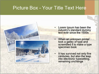 Ice field in the early morning PowerPoint Templates - Slide 20