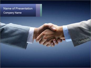 Handshake - Hand holding PowerPoint Template - Slide 1