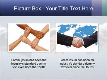 Handshake - Hand holding PowerPoint Template - Slide 18