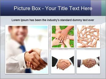 Handshake - Hand holding PowerPoint Template - Slide 19