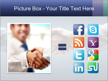 Handshake - Hand holding PowerPoint Template - Slide 21