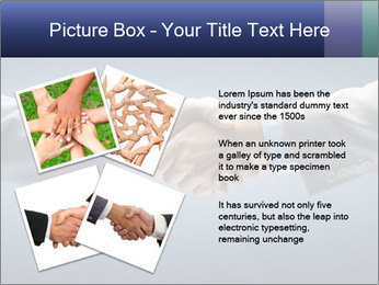 Handshake - Hand holding PowerPoint Template - Slide 23