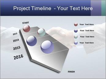 Handshake - Hand holding PowerPoint Template - Slide 26