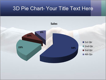 Handshake - Hand holding PowerPoint Template - Slide 35