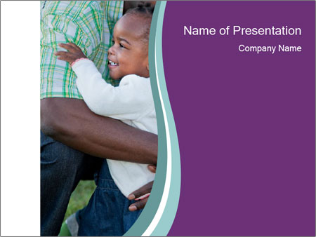 Little Smiling African American Girl PowerPoint Templates