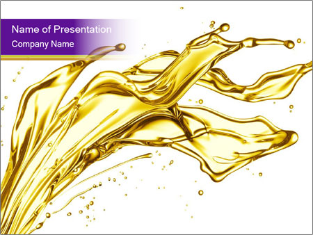 Engine oil splashing PowerPoint Templates