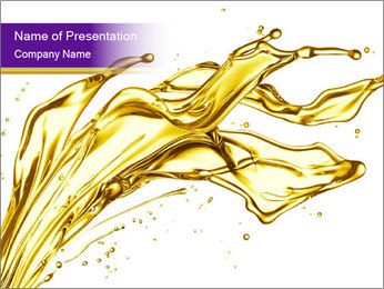 Engine oil splashing PowerPoint Template - Slide 1