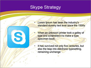 Engine oil splashing PowerPoint Template - Slide 8