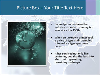 Globe with Fiber Optics PowerPoint Templates - Slide 13