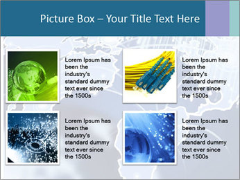 Globe with Fiber Optics PowerPoint Templates - Slide 14