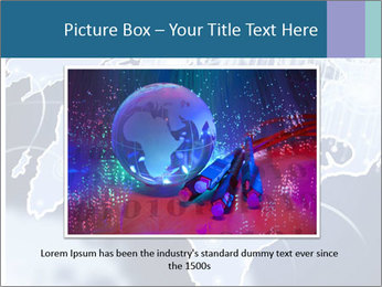 Globe with Fiber Optics PowerPoint Templates - Slide 15